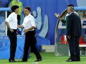 图文:德国1-0胜奥地利 勒夫与第四官员争吵