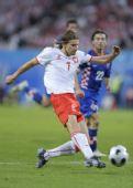 图文:[欧洲杯]克罗地亚1-0波兰 斯莫拉雷克射门