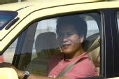 图文:车手徐浪生前照片 开自己的爱车