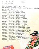 图文:车手徐浪生前照片 车队为其制作的战绩表
