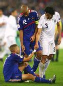 图文:意大利2-0法国 格罗索安慰里昂队友