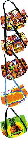 同款购物袋不同图案设计,意味着不同袋子可装不同物品。