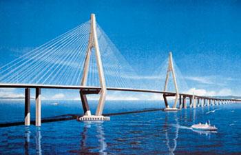 港珠澳大桥整体投资逾600亿元、大桥主体投资约380亿元.图为大桥