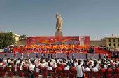 图文:圣火在喀什传递 圣火传递终点仪式现场