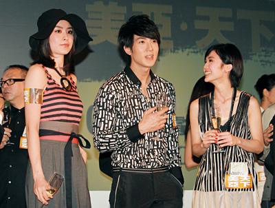 3月17日 在《剑蝶》首次公布的美亚娱乐发布会上,初相识的阿Sa和吴尊已有讲有笑
