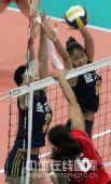 图文:中国女排3-0泰国女排 蕊蕊拦死对手进攻