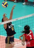图文:中国女排3-0泰国女排 赵蕊蕊单人拦网