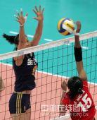 图文:中国女排3-0泰国女排 赵蕊蕊拦截对手