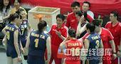 图文:中国女排3-0泰国女排 陈忠和指导战术