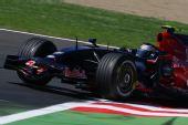 图文:[F1]法国大奖赛排位赛 维特尔在赛场上
