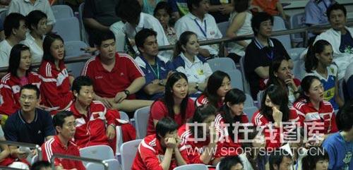 中国女排现场观战