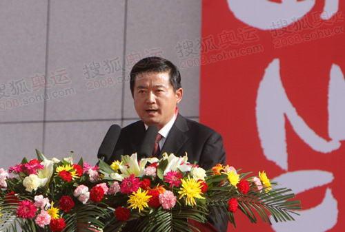 格尔木副书记、市长朱建平致辞