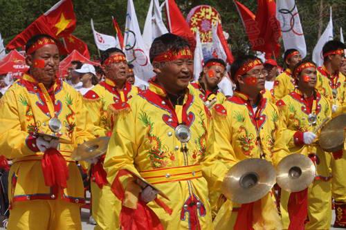 结束仪式少数民族表演