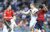 图文:西班牙4-2意大利 拉莫斯队友马切纳