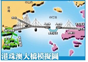 港珠澳大桥造价增至720亿 收费期或延至50年