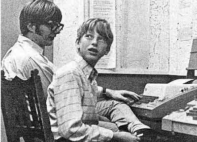 1979年,盖茨在创业初期的办公室