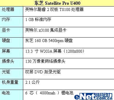 东芝Pro U400