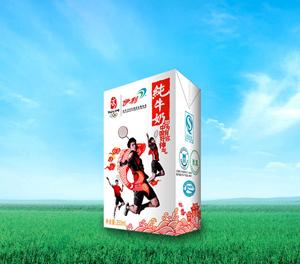 伊利奥运纪念装纯牛奶——羽毛球队版本包装
