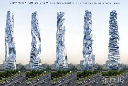 迪拜将建随风转动的大楼 世界首座动态建筑
