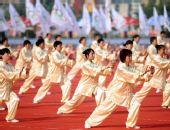 图文:奥运圣火运城传递 起跑仪式上的表演