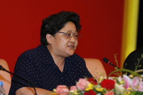 市国资委党委书记周毓秋在表彰会上发表讲话