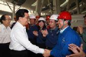 胡锦涛亲自购票上车 考察首都机场线等奥运设施