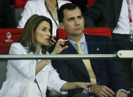 西班牙王储费利佩及王妃蕾蒂丝