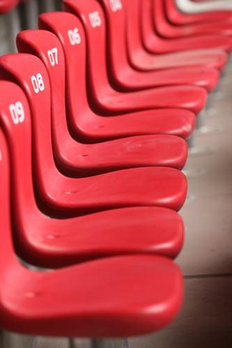 鸟巢观众席的座椅