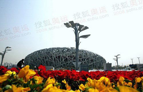 """图文:北京奥运会主会场""""鸟巢"""" 鸟巢外景一览"""