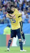 图文:俄罗斯0-3西班牙 庆祝胜利
