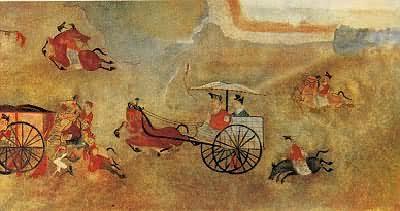 辽宁辽阳汉墓壁画:车马出行