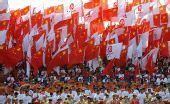 图文:奥运圣火在中卫传递 起跑仪式现场