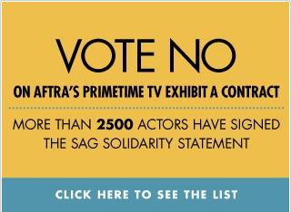 SAG呼吁其成员联合抵制AFTRA的协议
