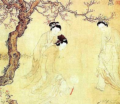 描写唐代宫廷妇女生活的《仕女图》