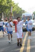 图文:奥运圣火泉州和厦门传递 第203棒火炬手