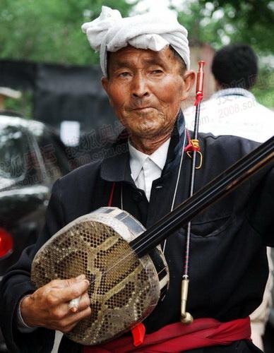 枣园内的陕北艺人