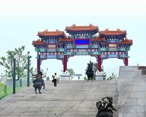 大牌楼极具中国古代特点