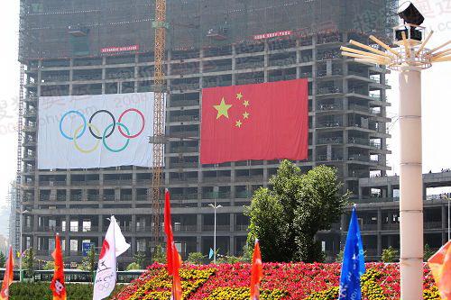 市民为奥运加油