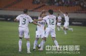 图文:[中超]浙江3-0长春 蔡楚川庆祝进球