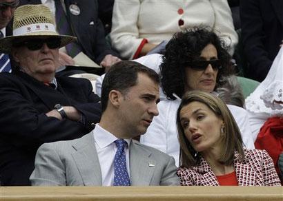 西班牙王子和王妃也现身