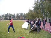 图文:《我们的奥林匹克》 拍摄投掷铁饼