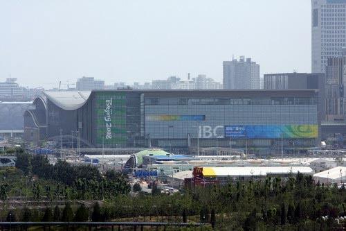 MPC正对着国际广播中心(IBC)