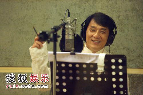 成龙录制奥运歌曲现场