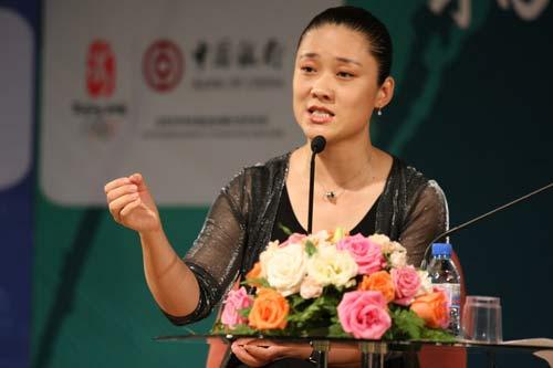刘伟女士在演讲中