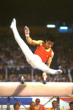 李宁在84奥运上英姿