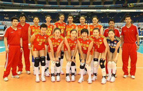 中国女排赛前合影