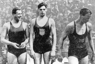 图文:1924年巴黎奥运会 男子400米自由泳前三