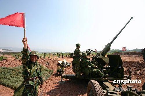 重庆陆军预备役某部实施对空抗袭作战