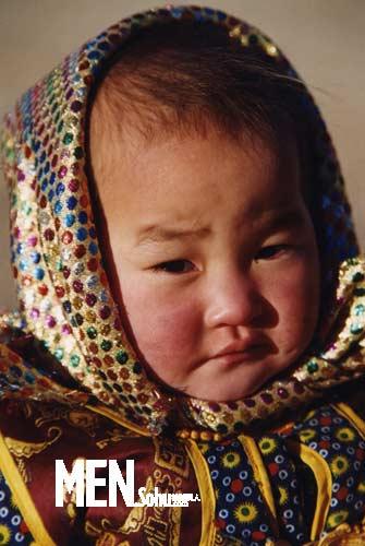 蒙古女子手绘图