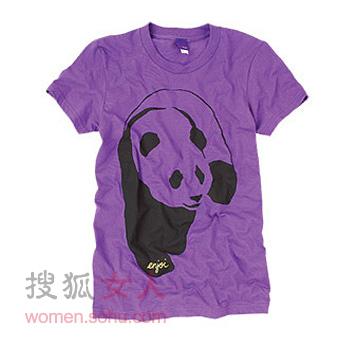 熊猫装之图案t恤-搜狐女人